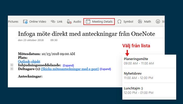 OneNote-infoga-motesanteckningar