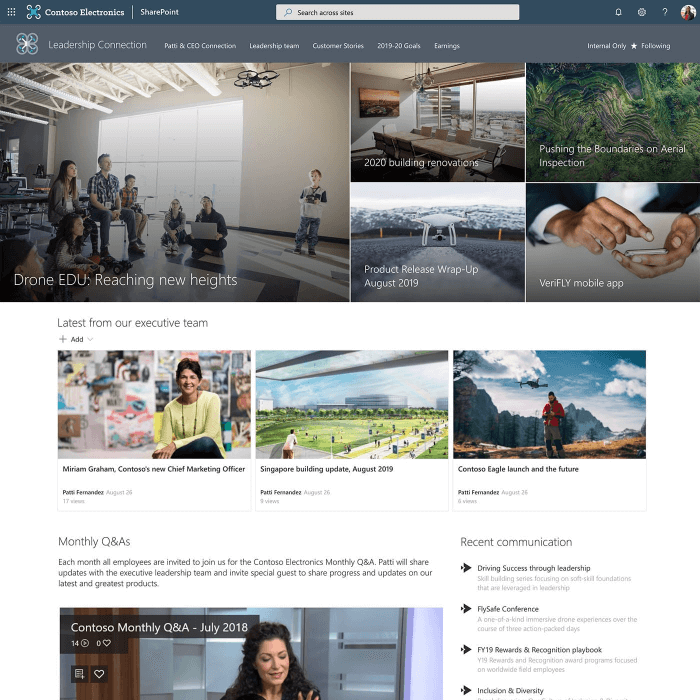 sharepoint-intranat-ledarskaps-sajt-microsoft